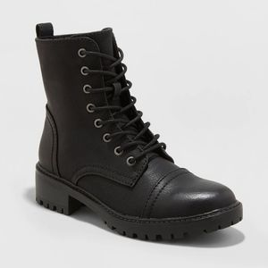 Kamryn Faux Leather Combat Boot